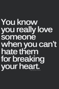 you know you really love someone...