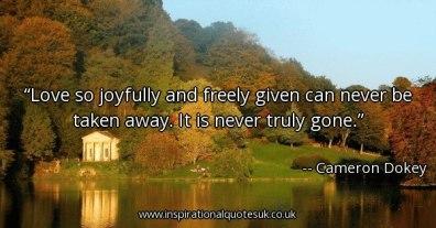 Love joyfully given