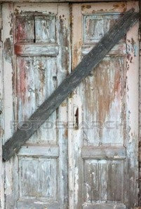 boarded door