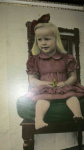 The only colour photo of me as a toddler - handpainted