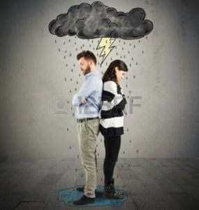 47985533-couple-under-cloud-with-lightning-and-rain