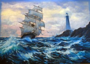 Violet_Parkhurst_Clipper_Ship_1984_36x48