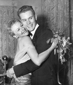 Mary Martin & son Larry Hagman