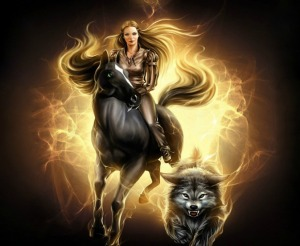 burning-horse-running-with-burning-wolf-wallpappers